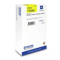 Epson T7554 - 39 ml - taille XL - jaune - original - cartouche d'encre - pour WorkForce Pro WF-8010, WF-8090, WF-8090 D3TWC, W