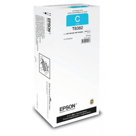 Epson T8382 - 167.4 ml - cyan - original - recharge d'encre - pour WorkForce Pro WF-R5190, WF-R5190DTW, WF-R5690, WF-R5690DTWF