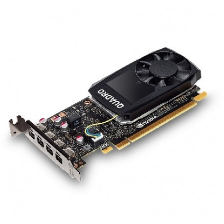 NVIDIA Quadro P1000 - Kit client - carte graphique - Quadro P1000 - 4 Go GDDR5 - PCIe 3.0 x16 - 4 x Mini DisplayPort - pour Del