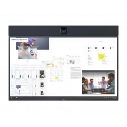 NEC InfinityBoard 2.1 55 - Kit de vidéo-conférence - noir - avec NEC OPS Slot-in PC (Windows 10 Professional), Huddly IQ camera