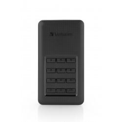 Verbatim Store 'n' Go Portable - Disque SSD - chiffré - 256 Go - externe (portable) - USB 3.1 Gen 1 (USB-C connecteur) - AES