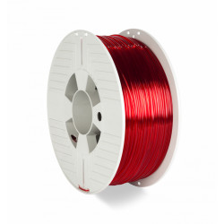 Verbatim - Rouge transparent - 1 kg - filament PETG (3D)