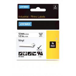 DYMO IND All-Purpose - Vinyle - adhésif - noir sur blanc - Rouleau (1,2 cm x 5 m) 1 rouleau(x) bande d'étiquettes - pour Label