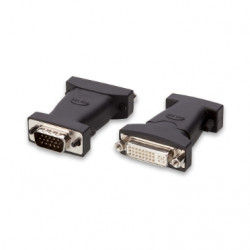 Belkin PRO Series Digital Video Interface Adapter - Adaptateur DVI - DVI-I (F) pour HD-15 (VGA) (M) - vis moletées