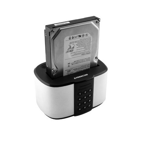"Freecom mDock - Station d'accueil HDD - baies : 1 - 2.5"", 3.5"" - USB 3.1 (Gen 1) - noir, argent"
