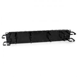 StarTech.com Panneau / Goulotte double de gestion de câbles horizontal / vertical 2U pour rack de serveur - Guide pour câbles a