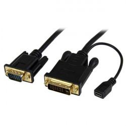 StarTech.com Câble adaptateur DVI vers VGA de 3m - Convertisseur actif DVI-D vers VGA HD15 - M/M - 1920x1200 - Noir - Convertis