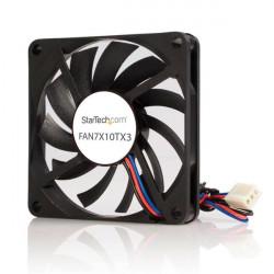 StarTech.com Ventilateur PC à Double Roulement à Billes - Alimentation TX3 - 70 mm - 1x Molex Fan TX3 Femelle - Ventilateur châ