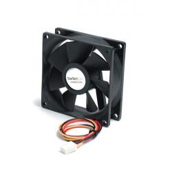 StarTech.com Ventilateur PC Silencieux à Double Roulement à Billes - Alimentation TX3 - 80 mm - 1x Molex TX3 Femelle - Kit de v