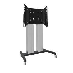 Ascenseur / chariot sur roues pour écrans tactiles XL jusqu'à 160 kg, avec couvercle de protection verrouillable (VESA 800x600
