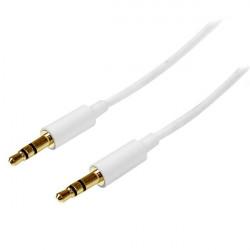 StarTech.com Câble audio stéréo Mini-Jack 3,5 mm slim de 2 m - M/M - Cordon audio jack - Câble pour casque - 2x 3,5 mm Mini-Jac