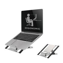 """NewStar NSLS100 - Pied pour notebook / tablette - argent - Taille d'écran : 10""""-22"""" - ordinateur de bureau"""
