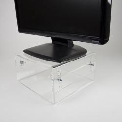 Neomounts by Newstar NSMONITOR40 - Pied - pour moniteur - acrylique - transparent