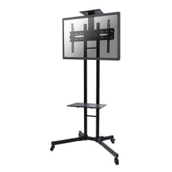 """NewStar PLASMA-M1700E - Chariot - pour écran plat/équipement audiovisuel - noir - Taille d'écran : 32""""-55"""""""