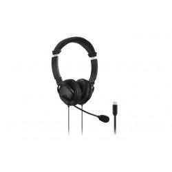 Kensington Hi-Fi USB-C Headphones with Mic - Micro-casque - sur-oreille - filaire - USB-C - noir