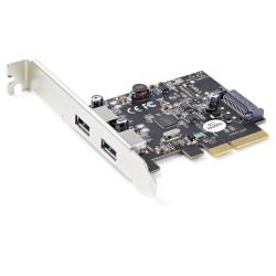 Cette carte contrôleur PCIe USB 3.2 Gen 2 s''installe dans un slot PCI-Express x4 libre sur votre ordinateur et vous permet de