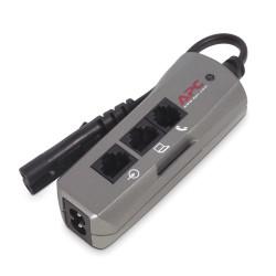 APC SurgeArrest Notebook Pro - Protection contre les surtensions - CA 230 V - connecteurs de sortie : 1 - argent