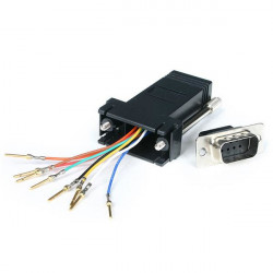 StarTech.com Adapteur Modulaire DB9 Mâle vers RJ45 Femelle Noir - DB9 à RJ45 M/F - Adaptateur série - DB-9 (M) pour RJ-45 (F) -
