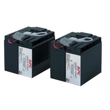 APC Replacement Battery Cartridge 55 - Batterie d'onduleur - Acide de plomb - 2 cellules - noir - pour P/N: SMT2200C, SMT2200I