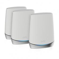 NETGEAR Orbi RBK753 - Système Wi-Fi (routeur, 2rallonges) - jusqu'à 7500 pieds carrés - maillage - GigE - 802.11a/b/g/n/ac/ax