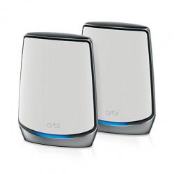 NETGEAR Orbi RBK853 - Système Wi-Fi (routeur, 2rallonges) - maillage - GigE, 2.5 GigE - 802.11a/b/g/n/ac, 802.11a/b/g/n/ac/ax