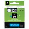 DYMO D1 - Auto-adhésif - noir sur blanc - Rouleau (1,2 cm x 7 m) 1 rouleau(x) bande d'étiquettes - pour LabelMANAGER 100, 160,