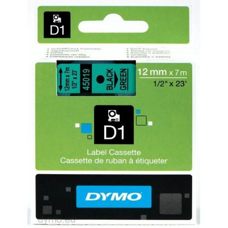 Ruban DYMO DYMO D1 12mmX7m Noir&Vert
