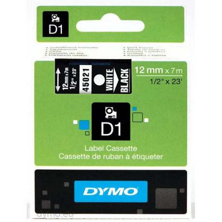 DYMO D1 - Auto-adhésif - blanc sur noir - Rouleau (1,2 cm x 7 m) 1 rouleau(x) bande d'étiquettes - pour LabelMANAGER 100, 160,