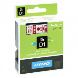 Ruban DYMO DYMO D1 19mmX7m Rouge&Blanc
