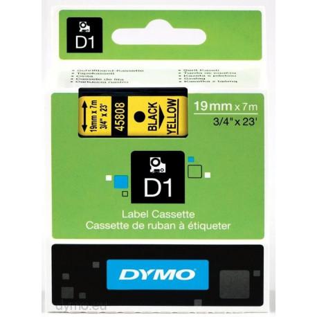 Ruban DYMO DYMO D1 19mmX7m Noir&Jaune