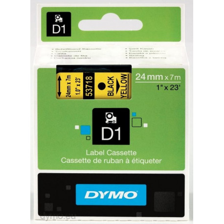 Ruban DYMO DYMO D1 24mmX7m Noir&Jaune
