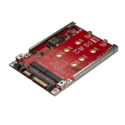 """StarTech.com Adaptateur pour deux disques SSD M.2 vers SATA - Convertisseur disque NGFF vers SATA dans baie de 2,5"""" - RAID - C"""