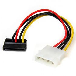 StarTech.com Adaptateur de câble d¿alimentation LP4 vers SATA à angle gauche 4broches - 15cm - Adaptateur secteur - alimentat