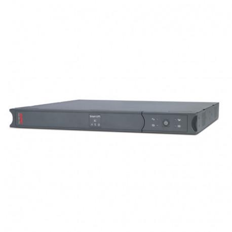 APC Smart-UPS SC 450VA - Onduleur (rack-montable) - CA 230 V - 280 Watt - 450 VA - RS-232 - connecteurs de sortie : 4 - 1U - gr