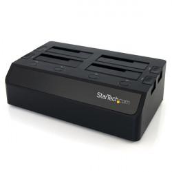 """StarTech.com Station d'accueil USB 3.0 pour 4 disques durs SATA III 2,5""""/3,5"""" 6Gb/s - Dock HDD / SSD avec UASP et deux venti"""