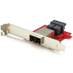 StarTech.com Adaptateur Mini SAS 2x SFF-8643 interne vers 2x SFF-8644 externe avec supports - 12 Gb/s - Panneau interne vers ex