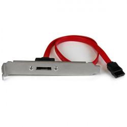 StarTech.com Adaptateur / Câble de slot SATA vers eSATA à 1 port - Équerre Serial-ATA vers eSATA avec cordon interne de 45cm -