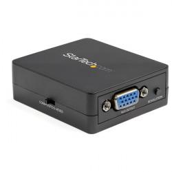 Ce convertisseur vidéo VGA composite permet de convertir et de mettre à l''échelle des signaux composites et S-Vidéo en sortie
