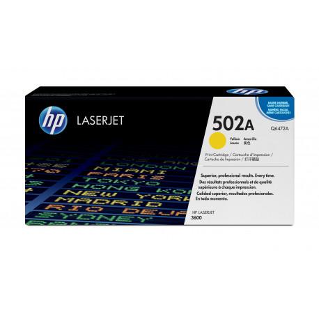 HP 502A - Jaune - original - LaserJet - cartouche de toner (Q6472A) - pour Color LaserJet 3600, 3600dn, 3600n