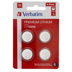 Verbatim - Batterie 4 x CR2032 - Li