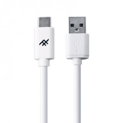 Cable USB-A vers USB-C 1m blanc