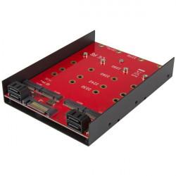 """StarTech.com Adaptateur de montage pour 4 SSD M.2 NGFF dans baie SATA de 3,5"""" - Convertisseur 4x SSD M.2 vers SATA III 3,5 pou"""