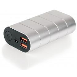 Verbatim - Banque d'alimentation - 20000 mAh - QC 3.0 - 2 connecteurs de sortie (USB) - argent, métal