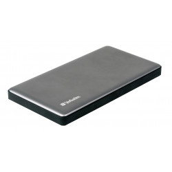 Verbatim - Banque d'alimentation - 10000 mAh - QC 3.0 - 2 connecteurs de sortie (USB) - argent, métal
