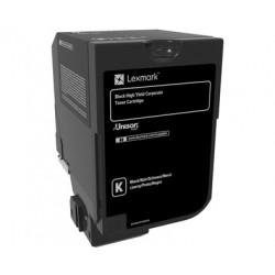 Lexmark Corporate - À rendement élevé - noir - original - cartouche de toner LCCP, LRP - pour Lexmark CX725de, CX725dhe, CX725d