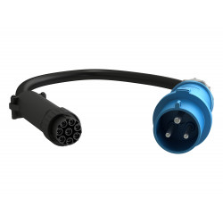 Geist CSU-S02A7-43000-3PS6B-S - Câble d'alimentation - IEC 60309 2P+E pour alimentation 8 pôles - CA 230 V - 32 A - 3 m