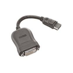 Lenovo - Câble DVI - liaison simple - DisplayPort (M) pour DVI-D (F) - 20 cm - gris - pour ThinkCentre M70, M720, M75, M80, M90