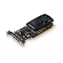 NVIDIA Quadro P1000 - Carte graphique - Quadro P1000 - 4 Go GDDR5 - PCIe 3.0 x16 - 4 x Mini DisplayPort - pour ThinkStation P32