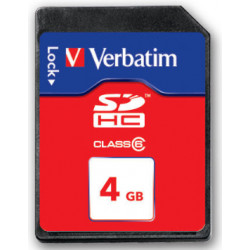 Verbatim - Carte mémoire flash - 4 Go - Class 6 - SDHC