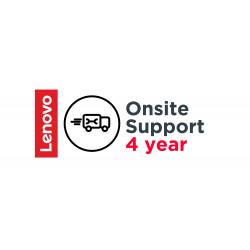 Lenovo Onsite Upgrade - Contrat de maintenance prolongé - pièces et main d'oeuvre - 4 années - sur site - temps de réponse : N